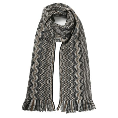 men's classic grey missoni scarf