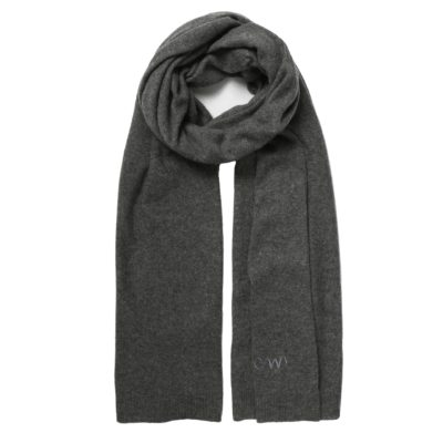 charcoal grey classic cashmere scarf