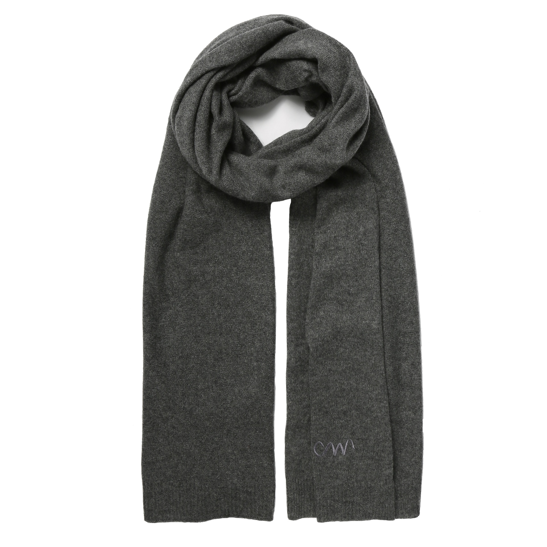 70179697e812b charcoal grey classic cashmere scarf - Cleverly Wrapped