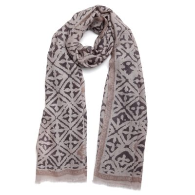 taupe cashmere scarf – Eyes of Marrakesh
