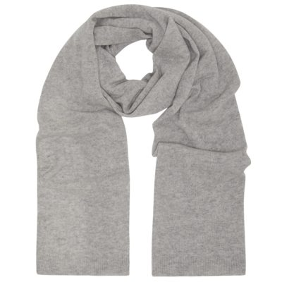 heather grey classic cashmere scarf