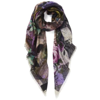 women's large square scarf in oak – Harlequin