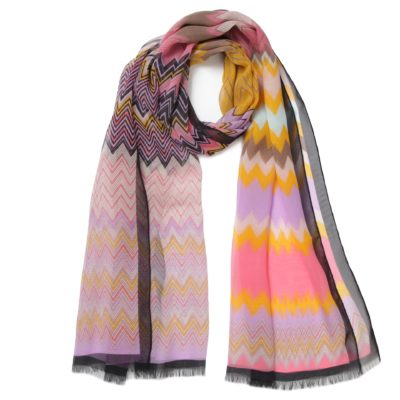 multi coloured Missoni silk scarf