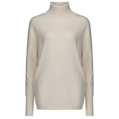 cream cashmere polo
