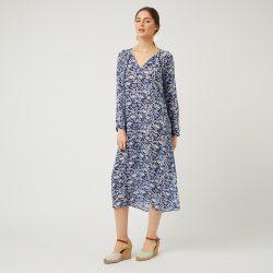 8d7c18bd44 navy blue floral print kaftan dress - Cleverly Wrapped