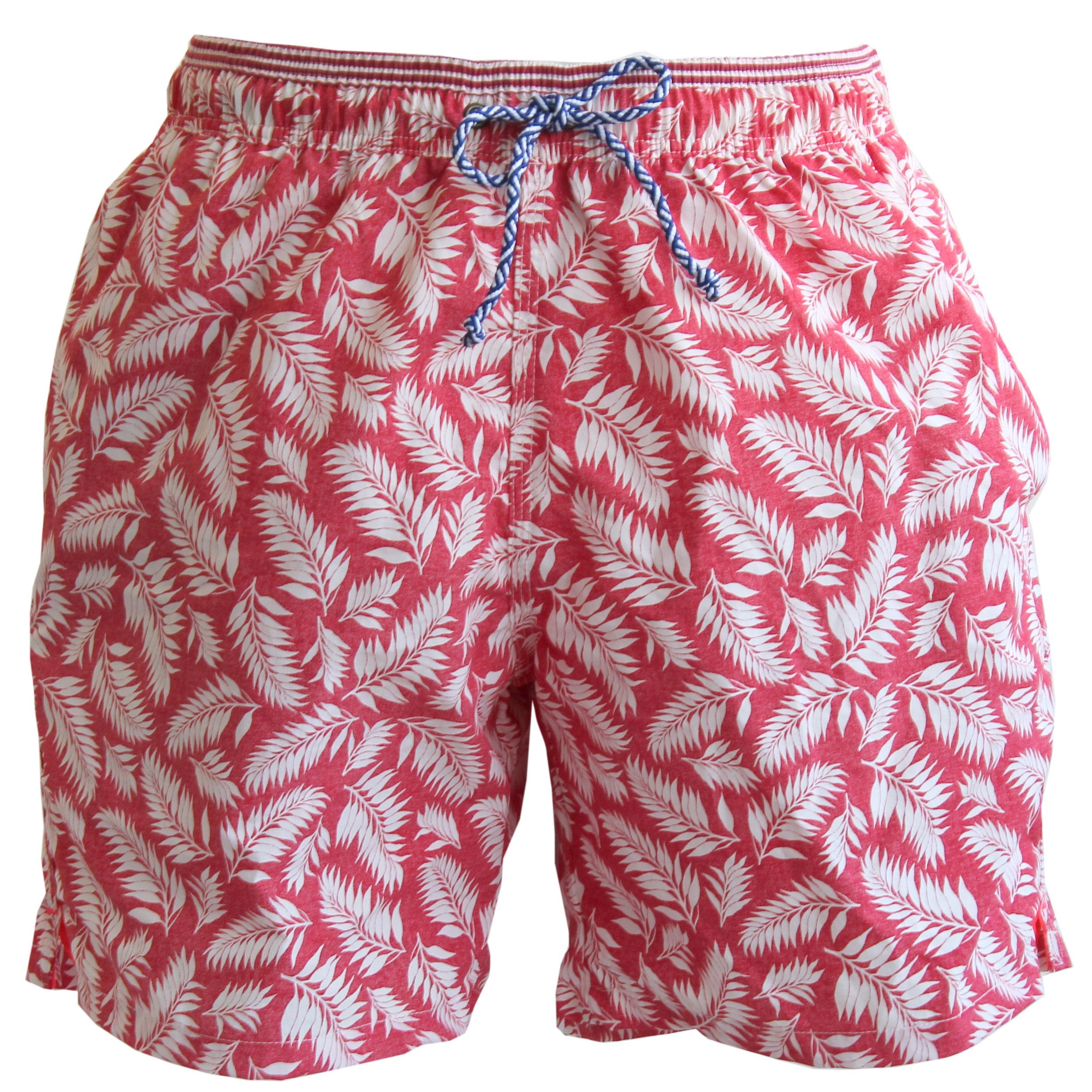 1f941de81ed9d red leaf print swim trunks