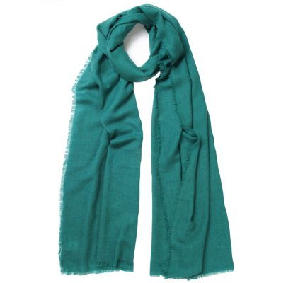 men's teal cashmere scarf