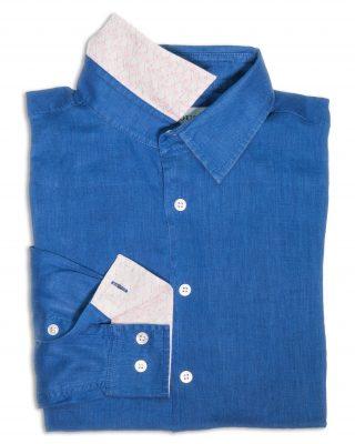 dazzling blue linen shirt