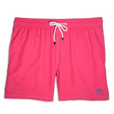 faded red swim trunks
