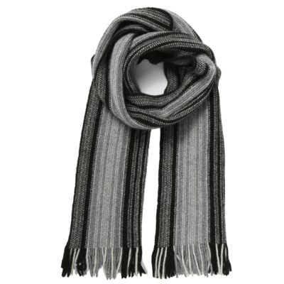 men's grey scarf