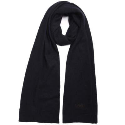 navy classic cashmere scarf