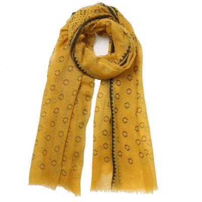 yellow wool scarf – Paris