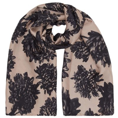 happy mums floral silk scarf