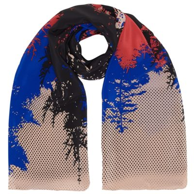 woods multi-coloured silk scarf