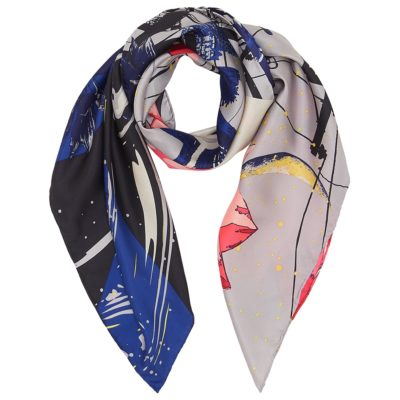 city lights silk square scarf