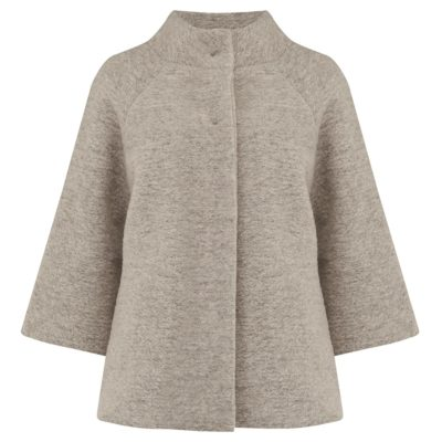 oatmeal boiled wool jacket