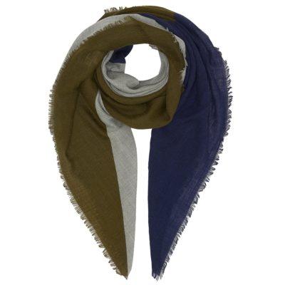 khaki wool square scarf