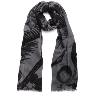 charcoal grey cashmere scarf – Garden of Eden