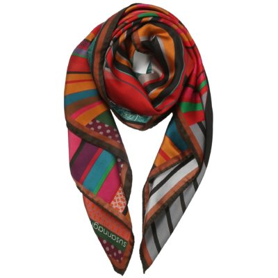 red silk scarf – Swirl
